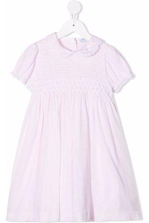 SIOLA Contrast-trim cotton-blend dress