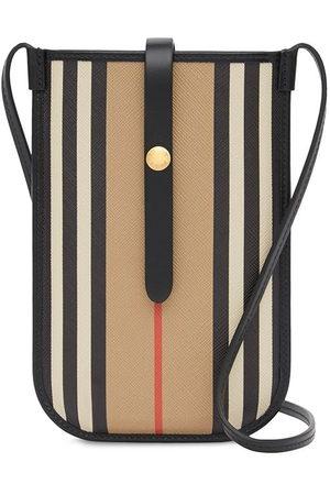 Burberry Icon Stripe E-canvas Anne strap phone case 18cmx12cm