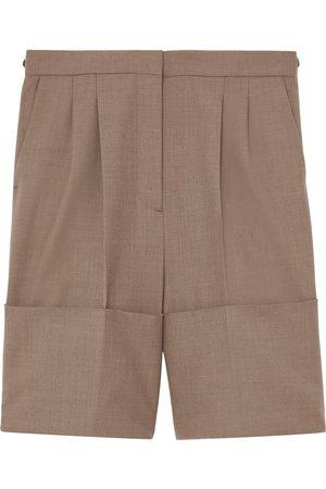 Burberry Women Shorts - Cuff-detail tailored shorts
