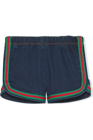 Gucci Baby Shorts - Stripe-trim denim shorts