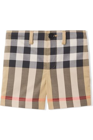 Burberry Baby Shorts - Check-print tailored shorts