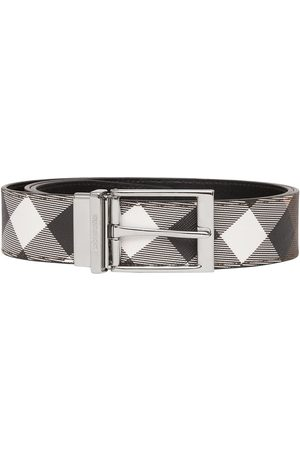 Burberry Men Belts - Reversible check-print belt