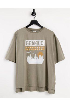 Gramicci Sunset slit logo t-shirt in