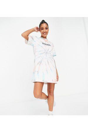 Napapijri Women Casual Dresses - Beatnik tie dye t-shirt dress in multi Exclusive at ASOS