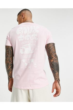 Friend or Faux Men Short Sleeve - Higher being printed t-shirt in pink