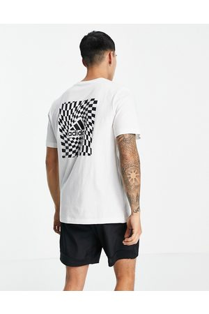 adidas Adidas chest logo t-shirt with back print in