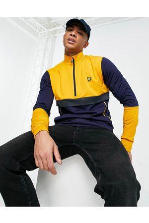 Lyle & Scott Sport tech track 1/2 zip jacket-Navy