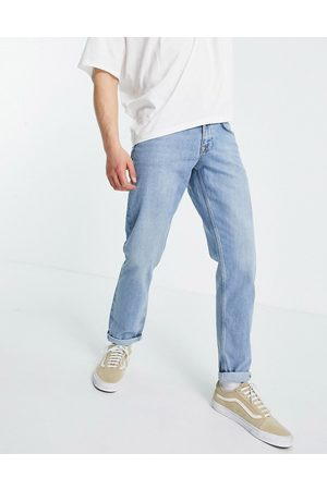 ASOS Mid wash slim jeans in selvedge denim