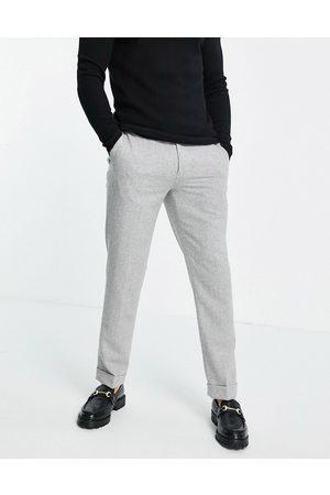 River Island Wool suit trousers in herringbone