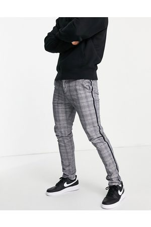 River Island Skinny smart check trousers in