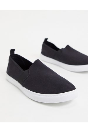 Truffle Collection Men Casual Shoes - Canvas slim on plimsolls in