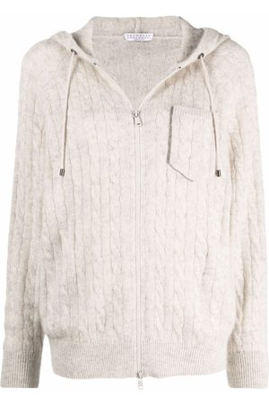 Brunello Cucinelli Women Cardigans - Monili-beaded cable knit cardigan