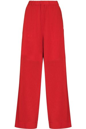 Y-3 Women Trousers - High-waisted straight-leg track pants