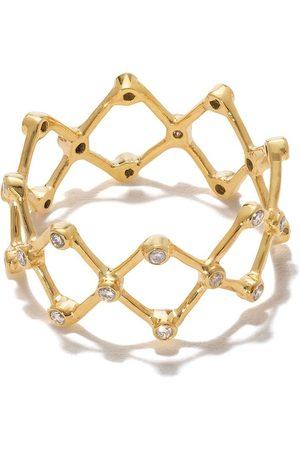 PATCHARAVIPA Women Rings - 18kt yellow diamond mini zigzag ring