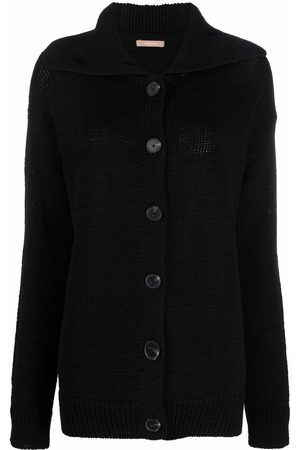 12 STOREEZ Women Cardigans - Spread-collar knitted cardigan
