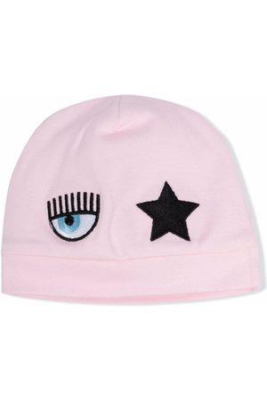 Chiara Ferragni Baby Hats - Logo-patch hat