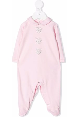 Chiara Ferragni Baby Pyjamas - Gem-logo cotton pyjamas