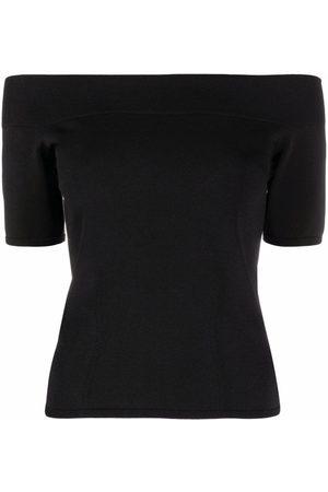 Alexander McQueen Women Short Sleeve - Off-shoulder T-shirt