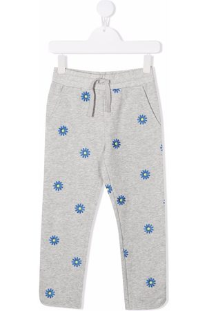 Stella McCartney Floral-embroidered sweatpants