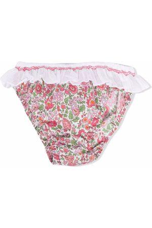 SIOLA Floral-print ruffle-trim bikini bottoms