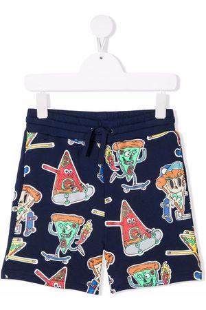 Stella McCartney Boys Shorts - Skateboarding pizza-print shorts