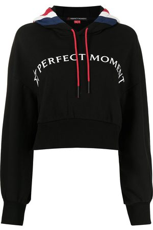 Perfect Moment Cropped logo-print hoodie