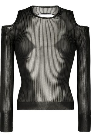 Cecilie Bahnsen Women Long Sleeve - Ribbed open-back top