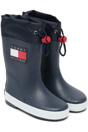 Tommy Hilfiger Boys Boots - Logo-patch wellington boots