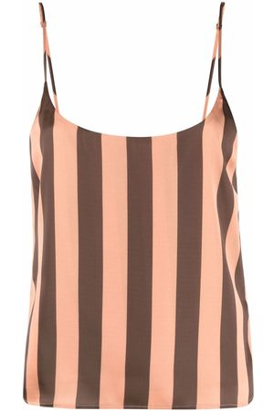 Manuel Ritz Women Camisoles - Striped open-back camisole top