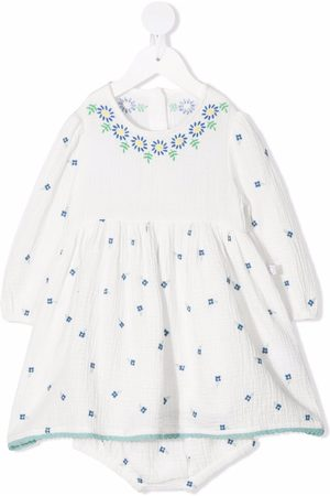 Stella McCartney Baby Printed Dresses - Floral-embroidered dress