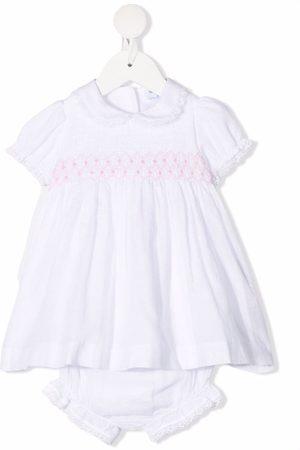 SIOLA Elasticated-panel cotton dress