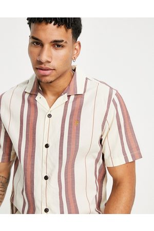 Farah Joplin short sleeve revere shirt-Neutral