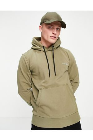 Calvin Klein Small logo embroidery hoodie in delta