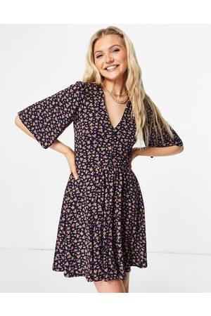ASOS Women Casual Dresses - Mini swing dress in navy floral print