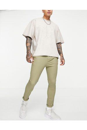 ASOS Men Chinos - Super skinny cropped chinos in light khaki