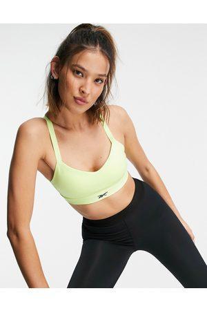 Reebok Women Sports Bras - Training Lux medium support strap back sports bra in lime