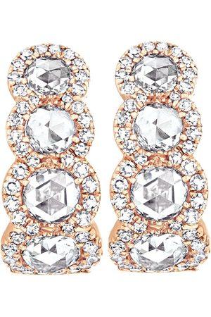 David Morris 18kt rose gold diamond Rose Cut hoop earrings