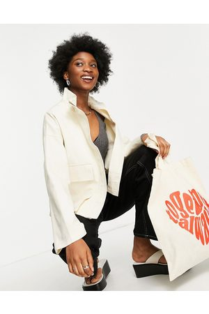 ASOS DESIGN Women Jackets - Jacket with pockets in cream