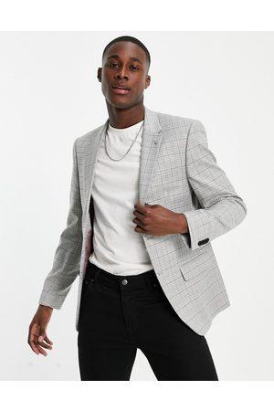 River Island Men Blazers - Skinny blazer in mini check