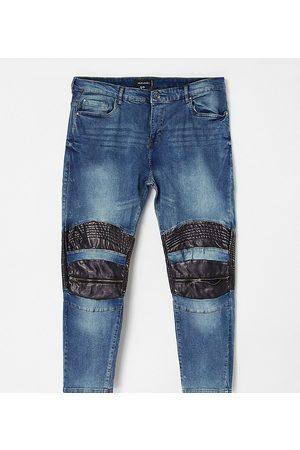 Night Addict Plus skinny destroyed denim jeans in acid wash
