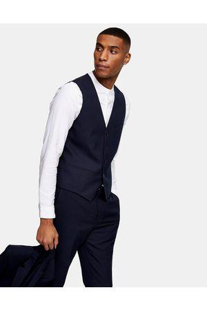 Topman Skinny suit waistcoat in navy