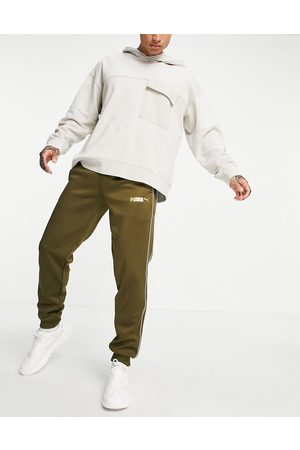 PUMA Men Leather Pants - Suede track pants in