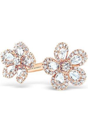 David Morris 18kt rose gold diamond Miss Daisy Double Flower ring