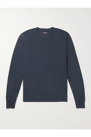 TOM FORD Men Long Sleeve - Lyocell and Cotton-Blend T-Shirt