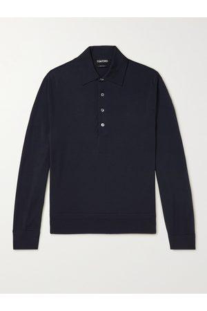 TOM FORD Men Polo Shirts - Slim-Fit Wool Polo Shirt
