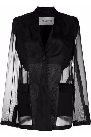 Jil Sander Sheer single-breasted blazer jacket
