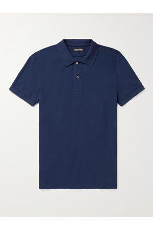 Tom Ford Men Polo Shirts - Garment-Dyed Cotton-Piqué Polo Shirt