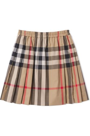 Burberry Kids Check-pattern pleated skirt