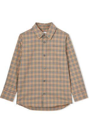 Burberry Kids Check-print long-sleeve shirt