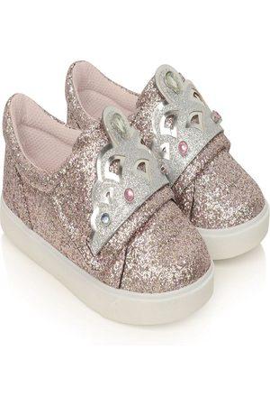 Sophia Webster Mini Tiara-motif glitter sneakers